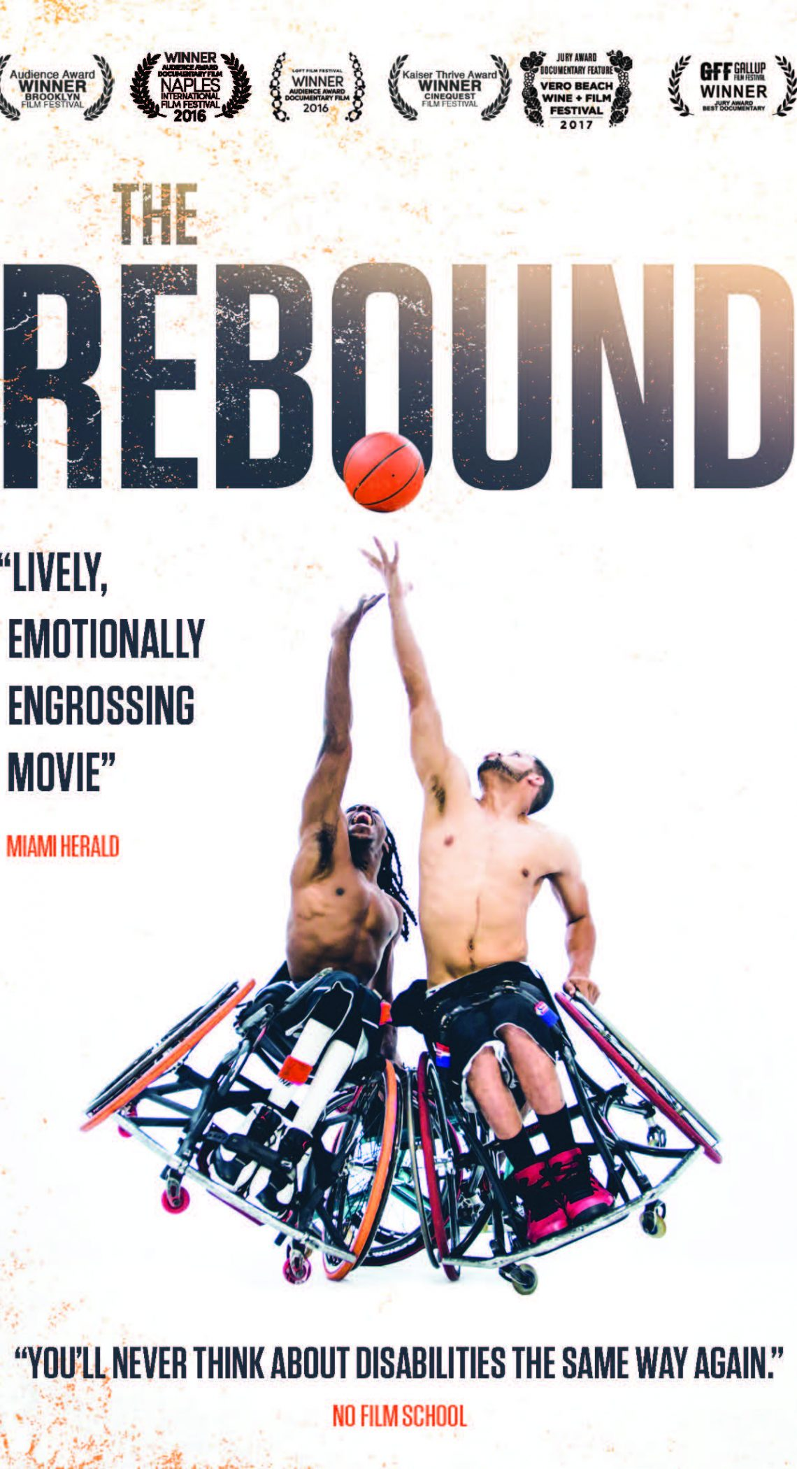 The Rebound Documentary Poster White Background